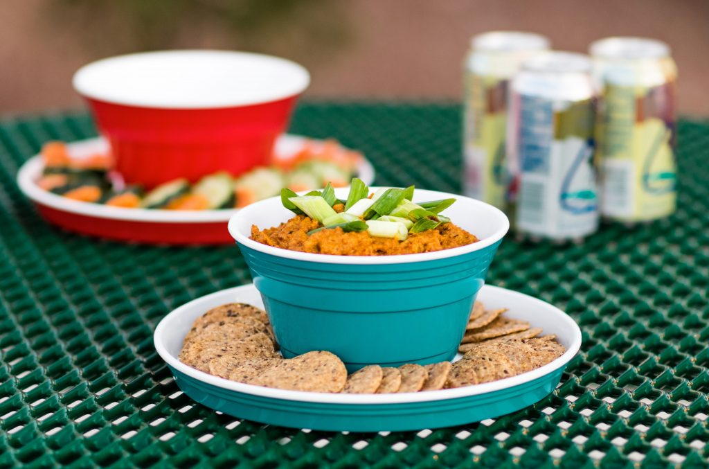 spicy party dip table